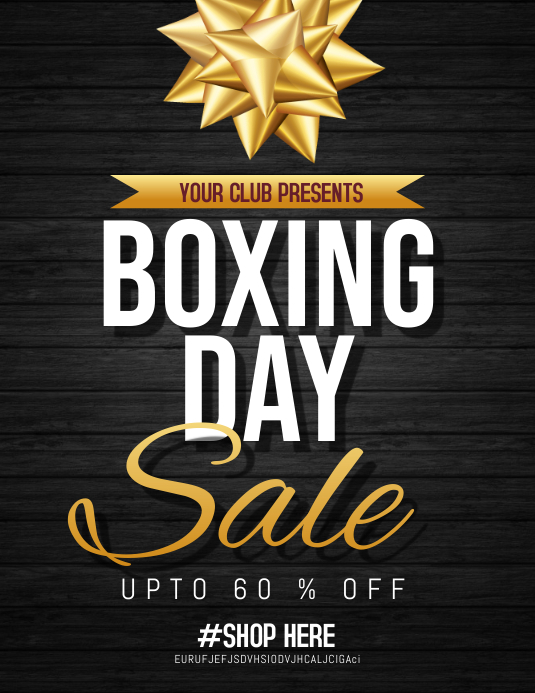 Boxing day sale flyers,event flyers