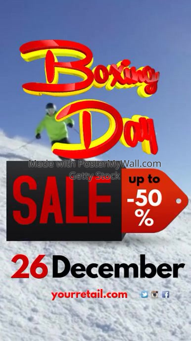 Boxing Day Sale Instagram
