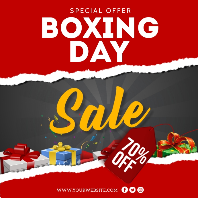 Boxing Day Sale Instagram Post Template Wpis na Instagrama