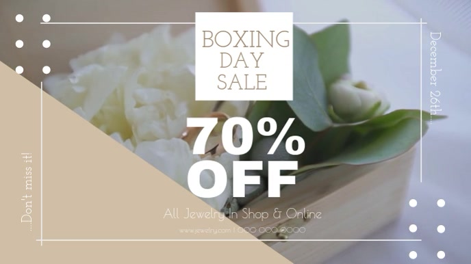 Boxing Day Sale Jewelry Shop Digital Display Video template