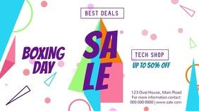 Boxing Day Sale Landscape Digital Display Video