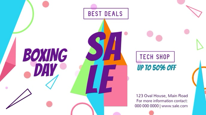 Boxing Day Sale Landscape Digital Display Video template