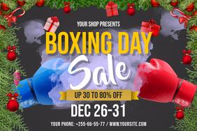 Boxing Day Sale Landscape Poster
