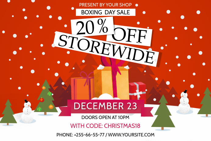 Boxing Day Sale Landscape Poster