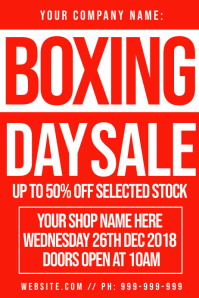 Boxing Day Sale Poster
