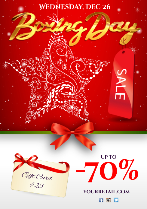 Boxing Day Sale Poster A4 template