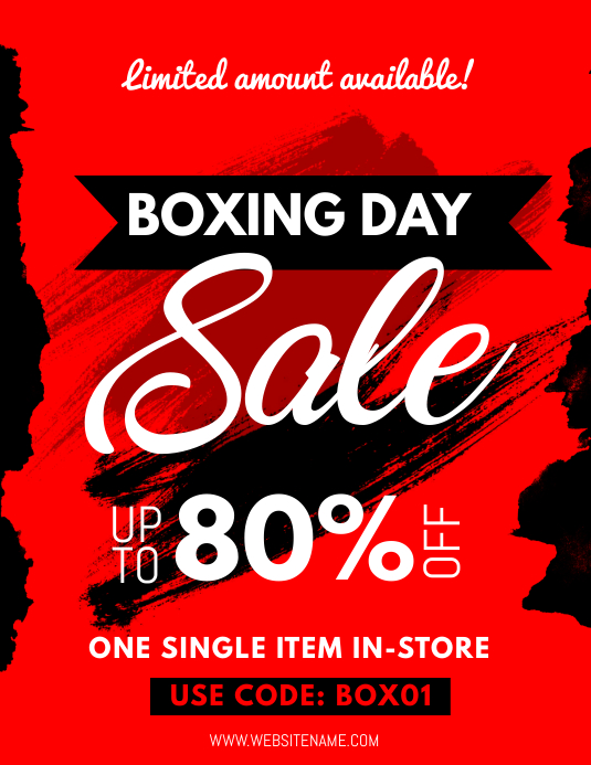Boxing Day Sale Flyer Volante (Carta US) template