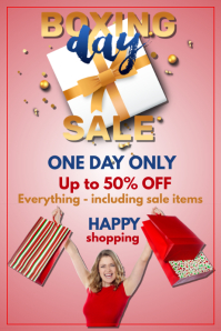 Boxing Day Sale red