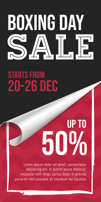 Boxing Day Sale Roll Up Banner template