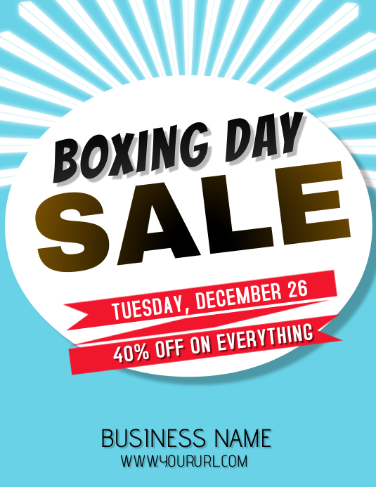 BOXING DAY SALE FLYER TEMPELATE Ulotka (US Letter) template