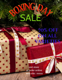 BOXIng day sale template,poster,flyer,banner