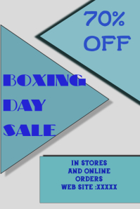 BOXING DAY SALE TEMPLATE,POSTER,FLYER