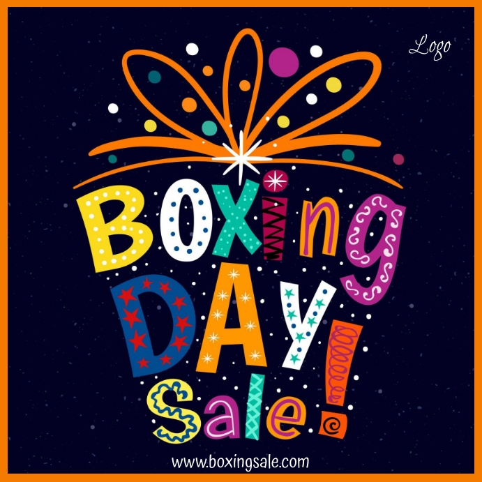 Boxing Day Sale Template Wpis na Instagrama