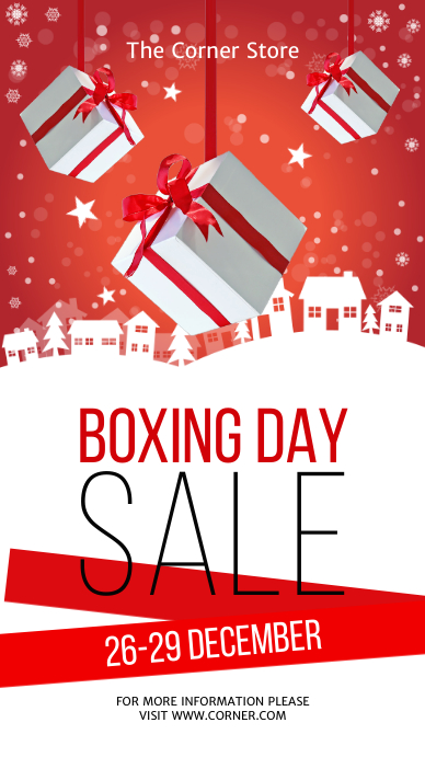 Boxing Day Sale Template História do Instagram