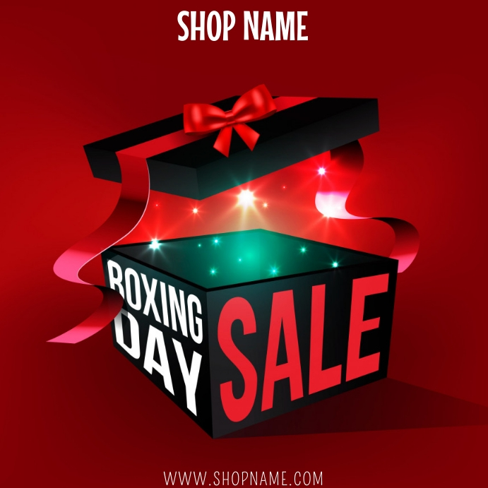 Boxing Day Sale Template Instagram Post