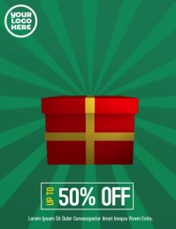 Boxing Day Sale Video Flyer Folder (US Letter) template