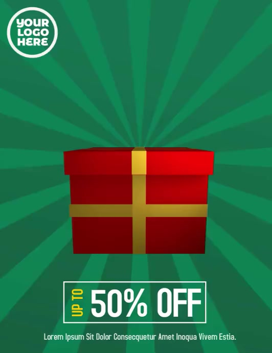 Boxing Day Sale Video Flyer template