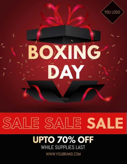boxing day sale video template Ulotka (US Letter)