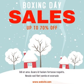 Boxing day sales instagram post