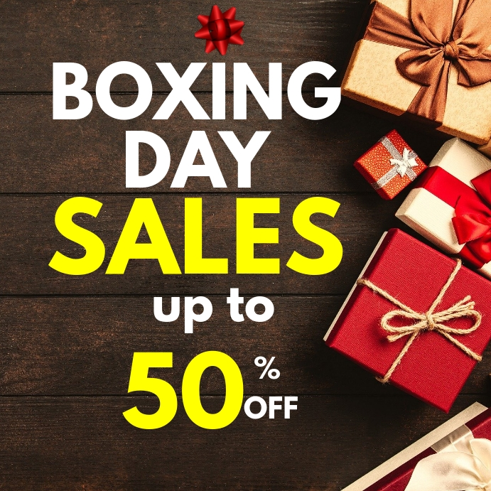Boxing day sales Instagram post template