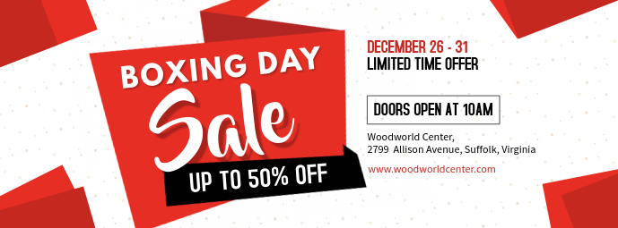 Boxing Day Shop Discounts Banner Facebook-Cover template