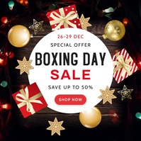 Boxing Day Square Image Advertisement template