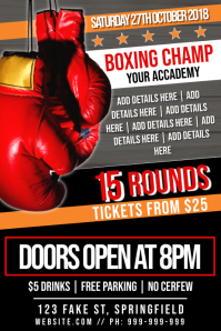Boxing Event Poster