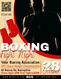 Boxing Fight Night Poster Pamflet (Letter AS) template