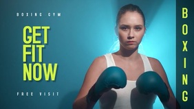 Boxing Gym Video Template Miniatura do YouTube