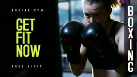 Boxing Gym Video Template YouTube Thumbnail