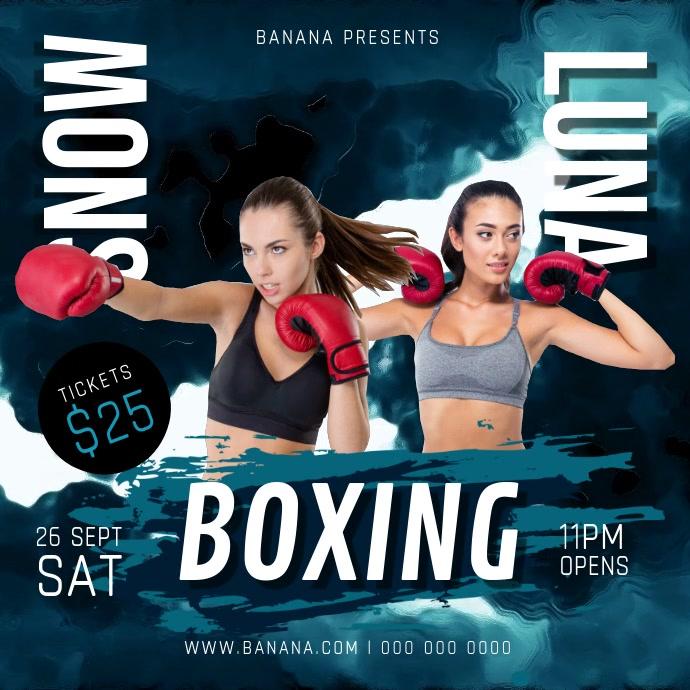 Boxing Match Square Video