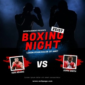 Boxing Night Event Video Design Template