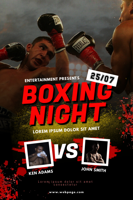 Boxing night flyer template postermywall - New home design center checklist ...