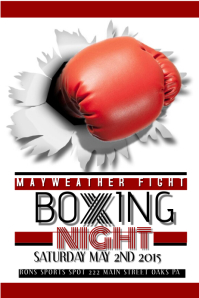 boxing poster template