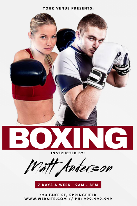 Boxing Poster Iphosta template