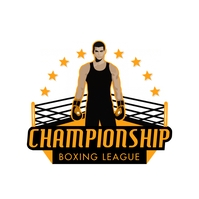 Boxing Ring Championship League Logo Template