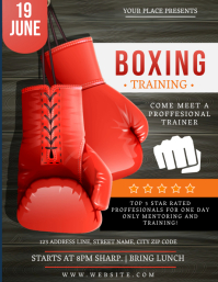 BOXING SPORT TRAINING Event Flyer Template Ulotka (US Letter)