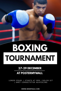 Boxing tournament flyer template