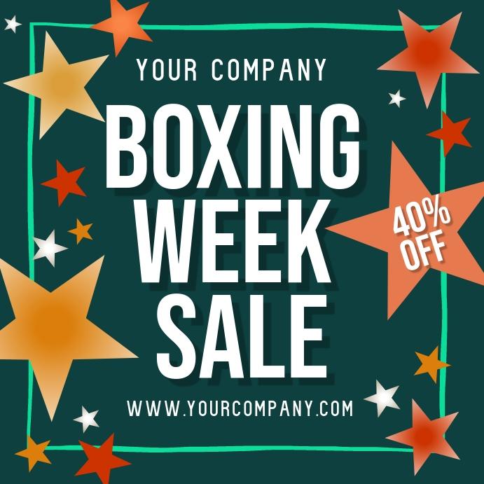 Boxing Week Sale Instagram Post template