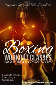 Boxing workout template