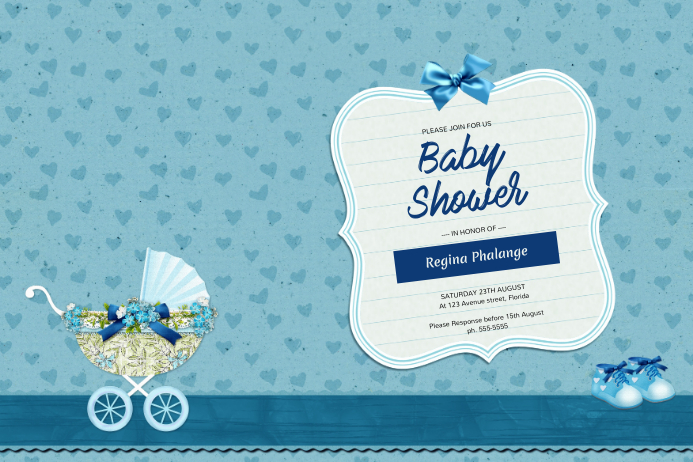 Boy Baby Shower Invitation Template Postermywall
