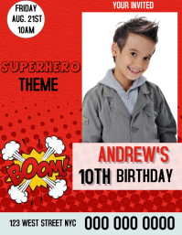 BOY KIDS BIRTHDAY Party Flyer Template