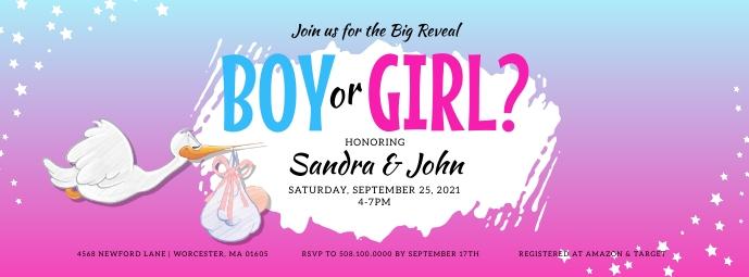 Boy Or Girl Gender Reveal Facebook Cover template