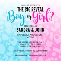 Boy Or Girl Gender Reveal Invitation Wpis na Instagrama template