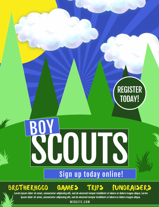 Boy Scouts Flyer (Letter pang-US) template