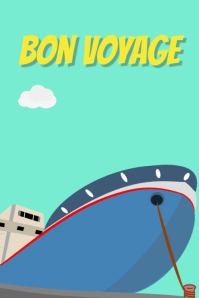 customizable design templates for bon voyage postermywall