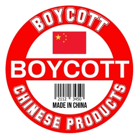 Boycott Chinese Products Template