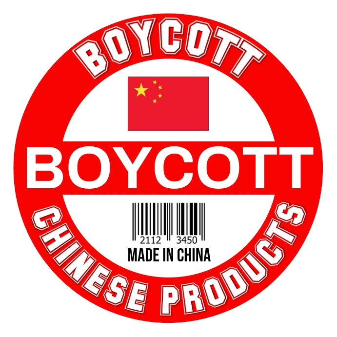 Boycott Chinese Products Template Square (1:1)