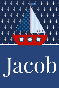 Boys Nautical Name Poster