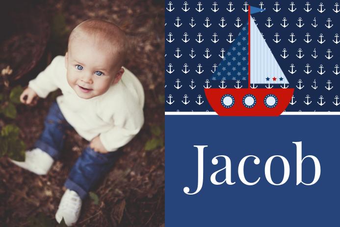 Boys Nautical Name Poster